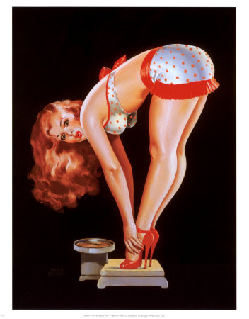 Pin-up-girl-on-scale