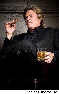 Man drinking scotch