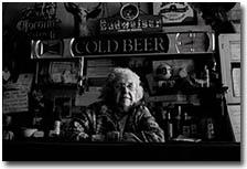 Elderly bartender