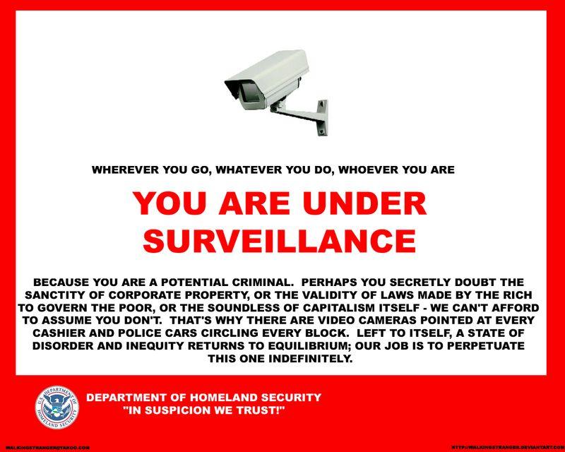 Surveillance you are under