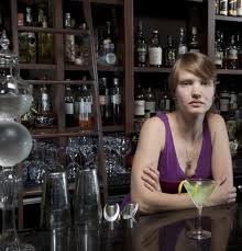 Annoyed bartender