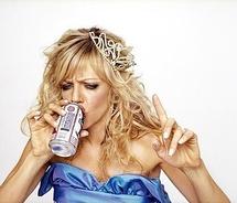 Drunk girl with tiara