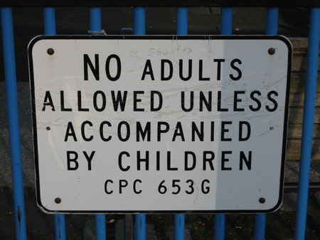 No adults