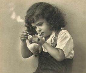Lil girl smoking